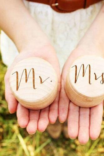Personalized Engraved Wooden Jewelry Storage Cabinet Ring Wedding Box Gift Accessories Women